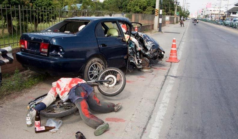 Injuries due to drunk driving accidents